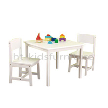 60*60*(H)48cm MDF E1 Pure White Square Kids Table Chairs, OEM And ODM Is Available