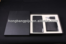 2013 popular in Europe Chrismas key and card holder leather wallet gift set