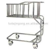 A-50 Stainless steel hospital infant bed with adjustable height /medical bed for baby/baby bed