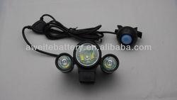 TrustFire TR-D003 1800-Lumens Cree XML T6 + 2XPE-R2 High Brightness Bike Light kit(4*18650)