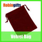 Popular! Fashion customise drawstring velvet tote bag