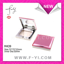 Pearlized Square compact powder case with mirror