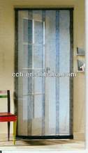 Magnetic door screen curtains