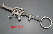 2013 newest CF game gun shaped metal key holder