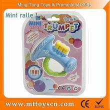 Kawayi mini bule babe rattle plastic toy trumpet
