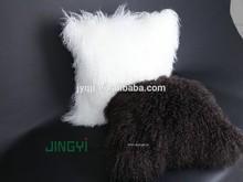 Wholesale Tibetan Mongolian Lamb Fur Sheep Skin Throw Pillow