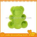 forma de oso bebé de silicona moldes