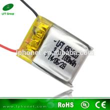 li-ion battery 3.7v 100mah Rechargeable lipo battery for rc toys/hobbys