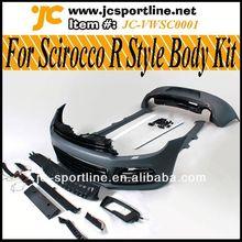 Genuine Bumper bodykit R Style Plastic Car Parts For Volkswagen Scirocco