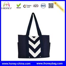 Fashionable Canvas Cheap Black White chevron diaper bag factory