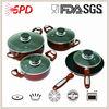 High quality 9pcs ceramics copper color cookware sets with Bakelite Handle