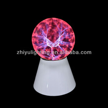"Hot sell plasma light,magic lamp,5"" plasma ball with buttefly"