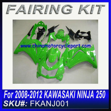 For 2008 2009 2010 2011 2012 KAWASAKI NINJA 250 motorcycle fairing kits ORGINAL GREEN