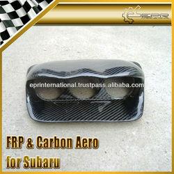 For Subaru Impreza GD Carbon Fiber Dash Mount Triple Gauge Pod