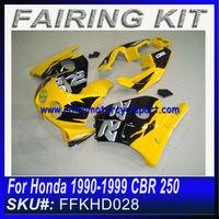 For Honda 1990-1999 CBR 250 Fairings BLACK&YELLOW