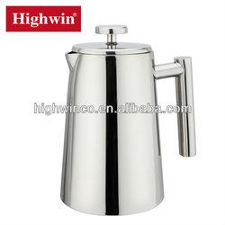 Jiangmen Stainless Steel double wall la cafetiere/coffee press/coffee plunger