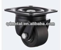 """3"""" black nylon wheel for shopping cart"""