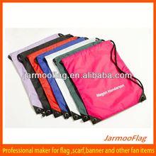 custom cheap long nylon drawstring bags