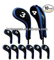 neoprene golf iron putter head cover with zipper
