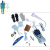 2014 electronic acupuncture with three channels Tens Acupuncture Digital therapy massager