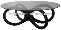 European high quality black high gloss coffee table #QJ-007