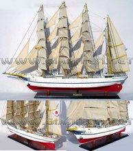 NIPPON MARU WOODEN MODEL SHIP - HANDICRAFT OF VIETNAM