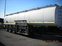3 unit Alu Fuel Tank Trailer 39900 liter Air Axel
