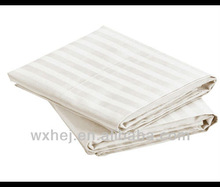 CHEAP SALE 1cm SATEEN STRIPE WHITE SHEET