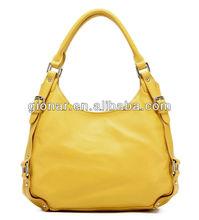 New product Leisure yellow genuine leather leather bags China fashion hobo bag Ladies handbag wholesale Guangzhou 3018#-6