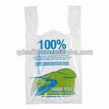 supermarket carrier plastic bag with t-shirt handle