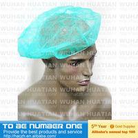 bouffant cap nurse cap,disposable non-woven bouffant cap,bouffant cap with peak
