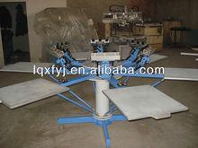 rotary t-shirt silk screen printing machine