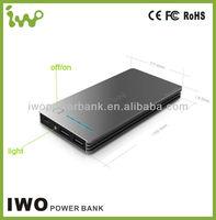 smartphone mobile charger 12000mah ORIGINAL iwo power bank for iphone 5 ipad mini