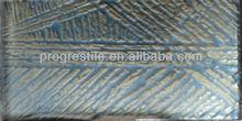 PMZ021 Golden line crystal glass brick mosaic tile