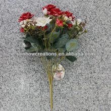 21 heads snow korea rose aritificial flower