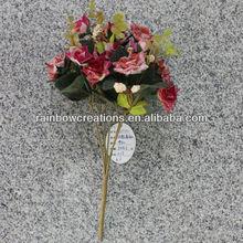 15 heads snow korea rose aritificial flower