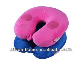 Neck Pillow Massager with Music Speaker