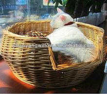 2013new design solid wicker pet basket / bed