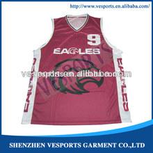 2013 New Style Unisex Basketball Uniform Design