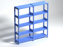Simple 4 Tiers Used In Warehouse Vertical Storage System