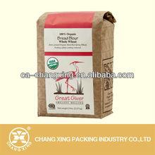 bread flour paper bag aluminum foil packaging for flour 1kg