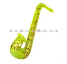 PVC Plastic Inflatable Saxophone Toys for Children, Inflatable Saxophone
