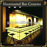 Fashion design LED lighting long bar counter for wine drinks