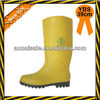 Yellow men wellington boots with steel toe and steel plate