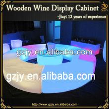 Customized fashion design acrylic illuminated table for bar