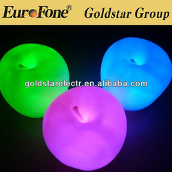 Christmas changing color shaped for apple night lamp light