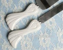 2013 Hot Selling New Style Porcelain Stylized Heart Wedding Cake Server Set