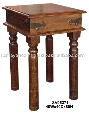 side table indian wooden furniture telephone end table living room