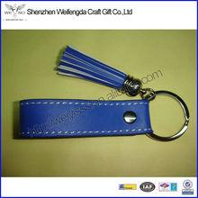 New&Unique Design Exquisite&Fashion Soft Leather Key Chain In Blue Color
