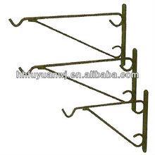 galvanized metal wall hanging blossom basket hooks